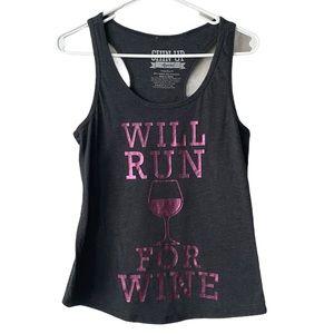 Chin Up Apparel Will Run For Wine Tank Top Medium